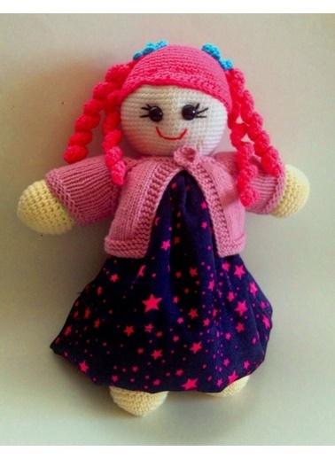 Damla Oyuncak Damla Oyuncak Saçlı Kız Bebek Amigurumi Örgü Renkli Bebek Oyuncak Renkli